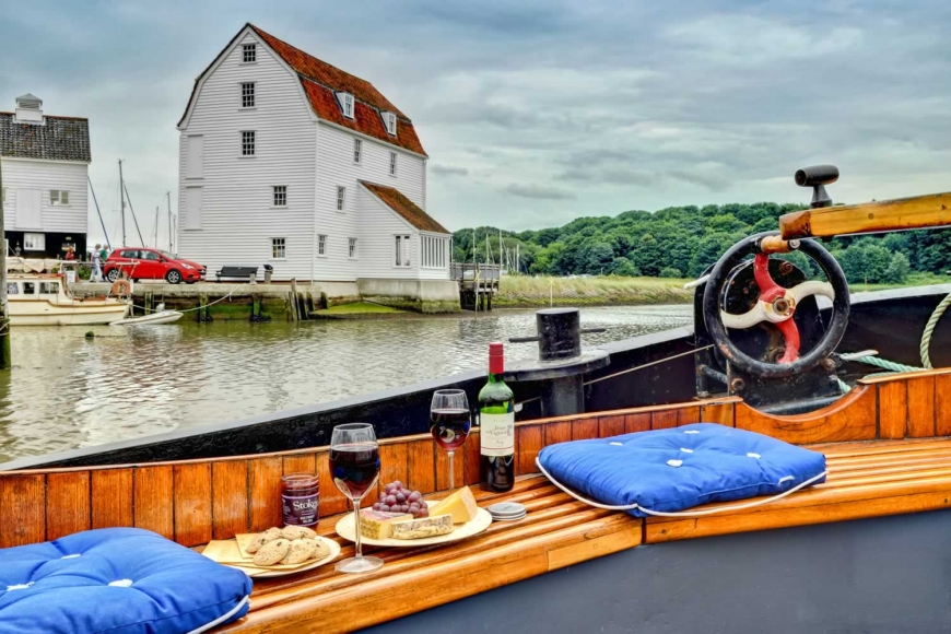 Fancy something different? Try this romantic barge in Woodbridge, Suffolk
