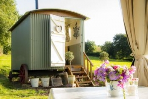 luxury glamping devon shepherd's hut for couples exeter
